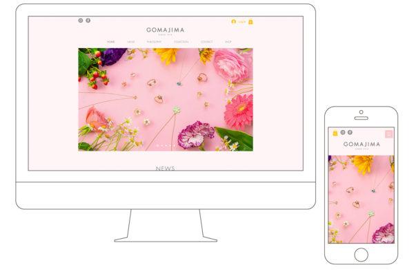 GOMAJIMA web design